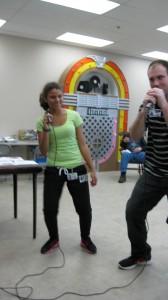 Singing and dancing