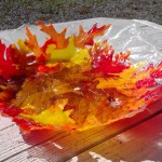 Leaf bowl drying in the sun