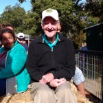 Leonard enjoying the hayride