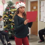 Sinclayre reading her letter to Santa