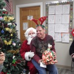 Adam with Santa