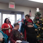 Our special Christmas visitor warmed our hearts!