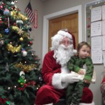 Santa with Tristan