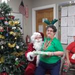 Santa with Virginia