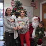Hope, Mommy, and Tristan with Santa
